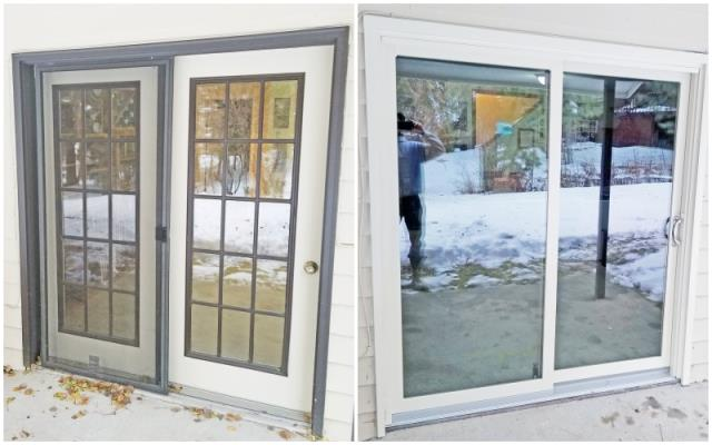 Helena, MT - This Helena home updated their patio door to a Renewal by Andersen Fibrex glider, increasing curb appeal and energy efficiency.