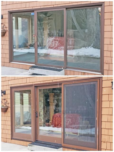 Billings, MT - This Billings home upgraded their patio door to a Renewal by Andersen door, increasing their energy efficiency.