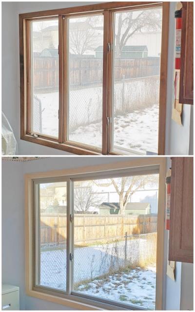 Billings, MT - This Billings home upgraded their old windows to more modern Renewal by Andersen Fibrex, enhancing energy efficiency.
