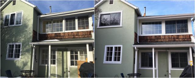 Helena, MT - We replaced old wooden windows with new RbA gliders and picture windows for this homeowner in Helena!