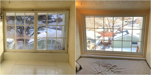 Helena, MT - We replaced this old wood window with a new RbA picture window on this home in Helena.