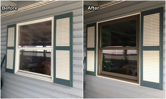 Butte, MT - This customer in Butte updated their home by replacing old vinyl windows with new Fibrex® windows from Renewal by Andersen.