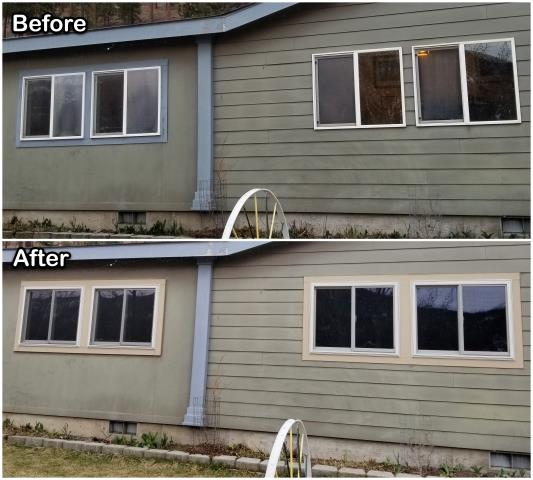 Clinton, MT - This Clinton, MT homeowner updated their old inefficient vinyl windows with these new Fibrex® gliders!