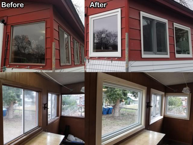 Missoula, MT - This customer in Missoula updated their home by replacing old inefficient windows with these new RbA Fibrex® Windows!
