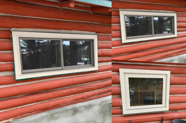 Canyon Creek, MT - We replaced seven windows in Canyon Creek MT updating the windows in this cabin gives it a tighter seal & better visibility.