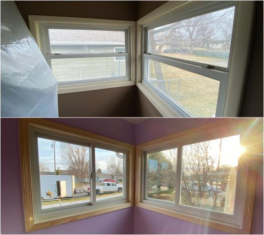 Billings, MT - We replaced several of these old double-hung windows with new RbA Gliding windows on this home in Billings.