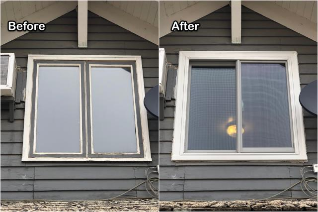 Rudyard, MT - This homeowner and in Rudyard upgraded their old failing windows with new RbA Fibrex® windows!