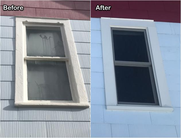 Red Lodge, MT - We replaced old failing wood windows with new RbA Fibrex® windows updating the look and efficiency of this home in Red Lodge.