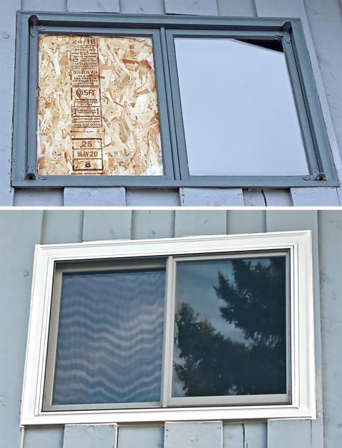 Spearfish, SD - This Spearfish home upgraded their old broken windows to Renewal by Andersen Fibrex windows.