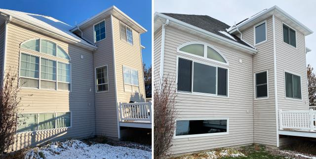Kalispell, MT - This beautiful home in Kalispell, MT upgraded their home to our Energy Efficient Fibrex Windows!