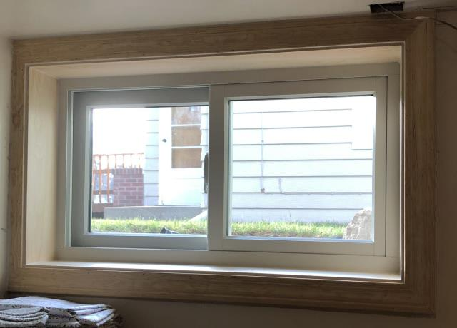 Great Falls, MT - This home in Great Falls, MT upgraded their basement windows to our Energy Efficient Fibrex Gliding Windows.!