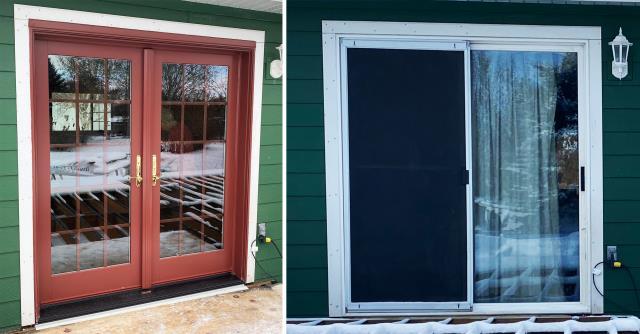Bozeman, MT - This home in Bozeman, MT upgraded their patio door to our Energy Efficient Fibrex Sliding Glass Door!
