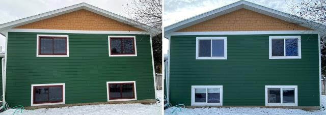 Bozeman, MT - This beautiful home in Bozeman, MT upgraded their windows to our Energy Efficient Fibrex Windows!