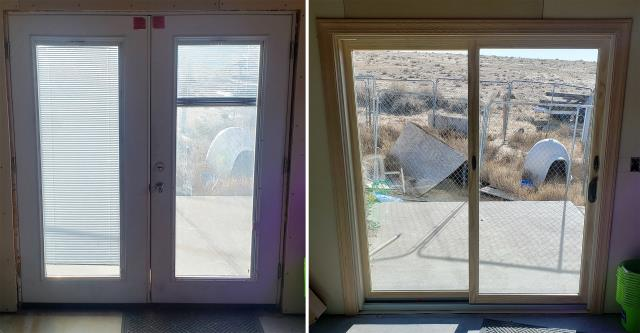 Casper, WY - This Casper, WY home upgraded their patio door to our Energy Efficient Sliding Fibrex Patio Door!