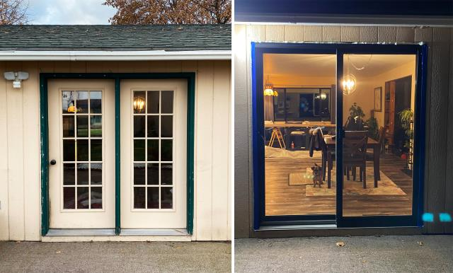 Kalispell, MT - This Kalispell, MT home upgraded their patio door to our Energy Efficient Sliding Fibrex Patio Door!