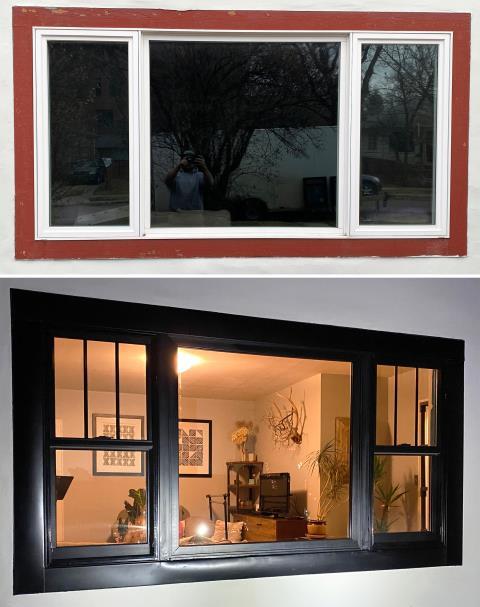 Bozeman, MT - This Bozeman home upgrade their windows to our Energy Efficient Fibrex Windows!