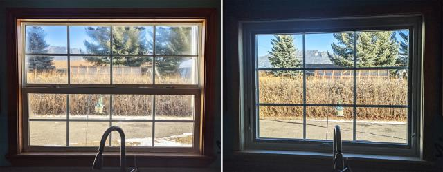 Butte, MT - This Butte, MT home upgraded their Kitchen Window to our Energy Efficient Fibrex Window!