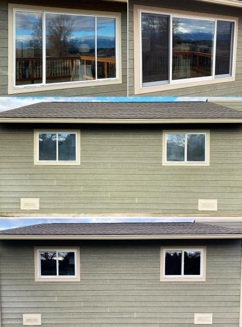 Kalispell, MT - This Kalispell, MT home upgraded their windows to our Energy Efficient Fibrex Windows!