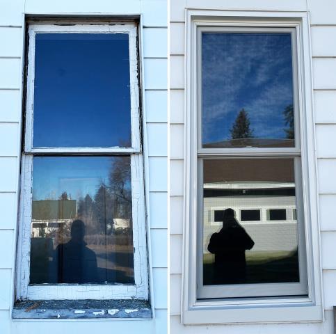 Belgrade, MT - This Belgrade, MT home upgraded their window to our Energy Efficient Fibrex Window!