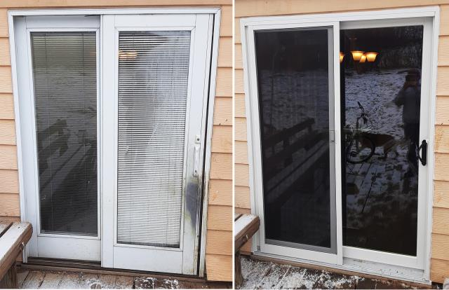 Casper, WY - This Casper, WY home upgraded their patio door, to our Energy Efficient Fibrex Sliding Glass Door!
