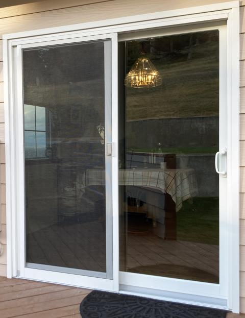 Missoula, MT - This Missoula, MT home upgraded their patio door to our Energy Efficient Patio Door!