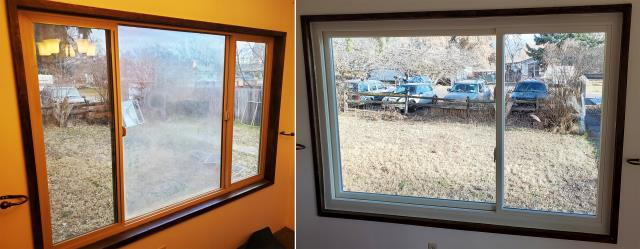 Kalispell, MT - This Kalispell, MT home upgraded their windows to our Energy Efficient Fibrex Custom Windows!
