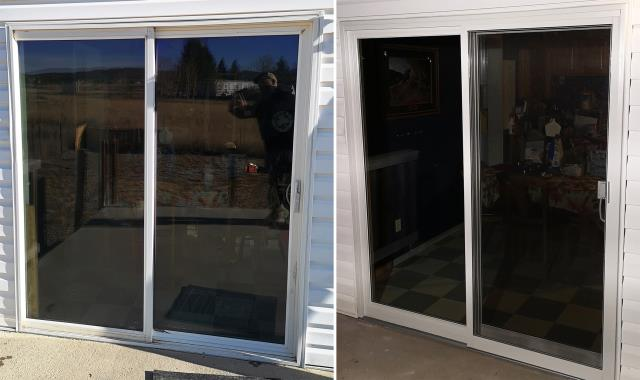 Helena, MT - This Helena, MT home upgraded their windows and patio doors to our Energy Efficient Fibrex Windows and Patio Doors!