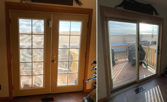 Gillette, WY - This Gillette, WY home upgraded their patio door to our Energy Efficient Fibrex Patio Door!