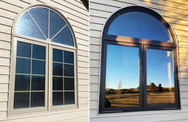 Cheyenne, WY - This home in Cheyenne, WY upgraded their windows to our Custom Energy Efficient Fibrex Windows!