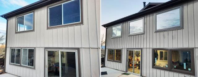 Cody, WY - This Cody, WY home upgraded their windows to our Energy Efficient Fibrex Windows!