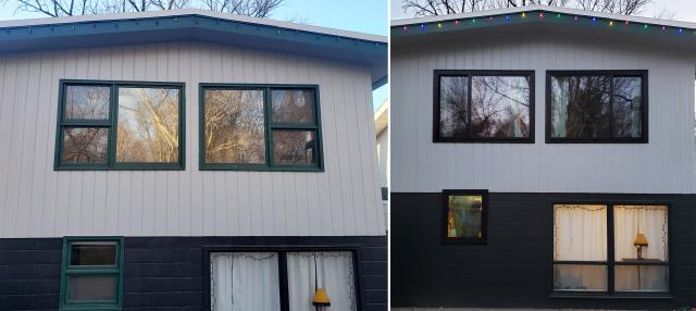 Billings, MT - This Billings, MT home upgraded their windows to our Custom Made Energy Efficient Fibrex Windows!