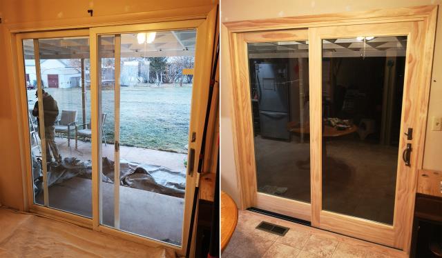 Helena, MT - This Helena, MT home upgraded their patio door to our Energy Efficient Fibrex Sliding Glass Door!