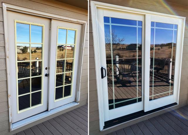 Cheyenne, WY - This Cheyenne, WY home upgraded their patio door to our Energy Efficient Fibrex Sliding Glass Patio Door!