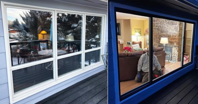 Bozeman, MT - This Bozeman, MT home upgraded their windows to our Energy Efficient Fibrex Windows!