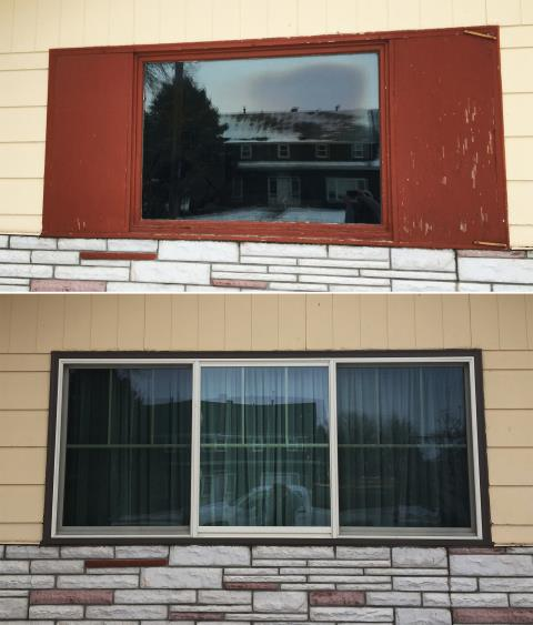 Scottsbluff, NE - This Scottsbluff, NE home upgraded their windows to our Energy Efficient Fibrex Windows!