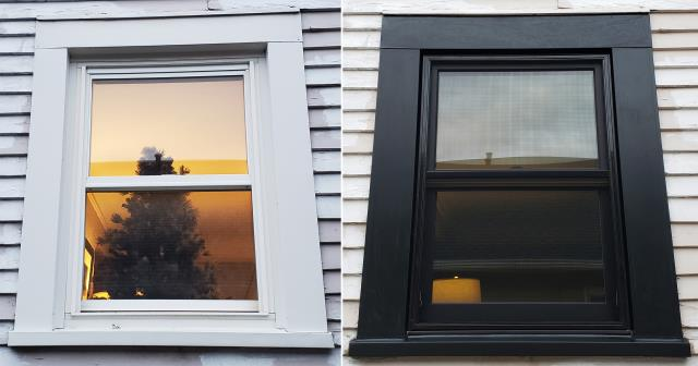 Billings, MT - This Billings, MT home upgraded their windows to our Energy Efficient Fibrex Windows!