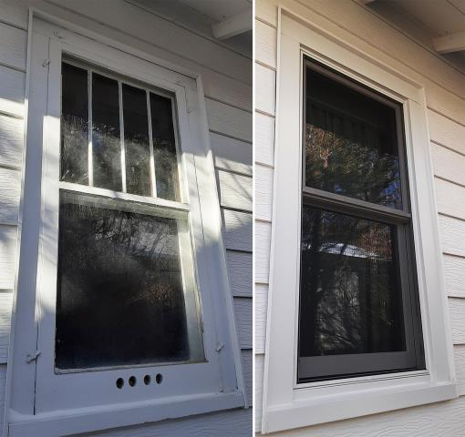 Casper, WY - This Casper, WY home upgraded their windows to our Energy Efficient Fibrex Windows!