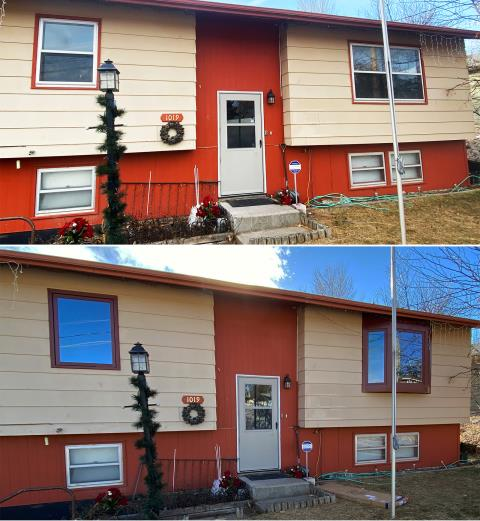 Hot Springs, SD - This Hot Springs, SD home upgraded their windows to our Energy Efficient Fibrex Windows!