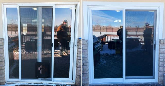 Laramie, WY - This Laramie, WY home upgraded their patio door to our Energy Efficient Fibrex Sliding Glass Patio Door!