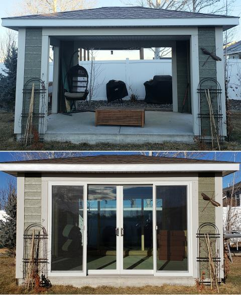 Billings, MT - This Billings, MT home put our Energy Efficient Fibrex Sliding Glass Patio Door in their gazebo!