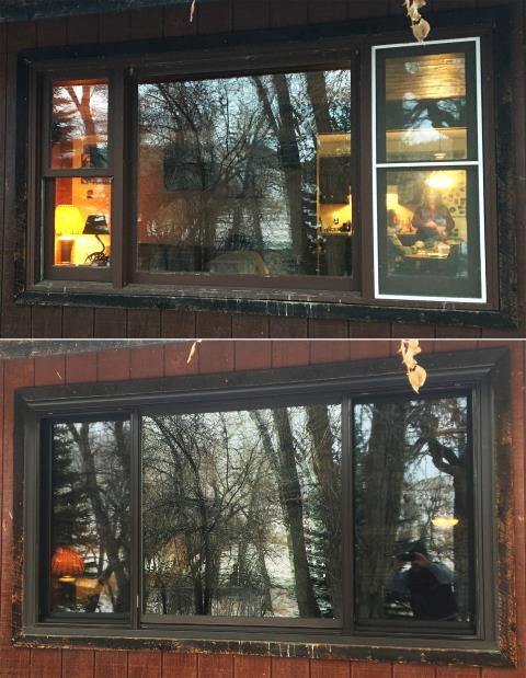 Buffalo, WY - This Buffalo, WY home upgraded their windows to our Energy Efficient Fibrex Windows!