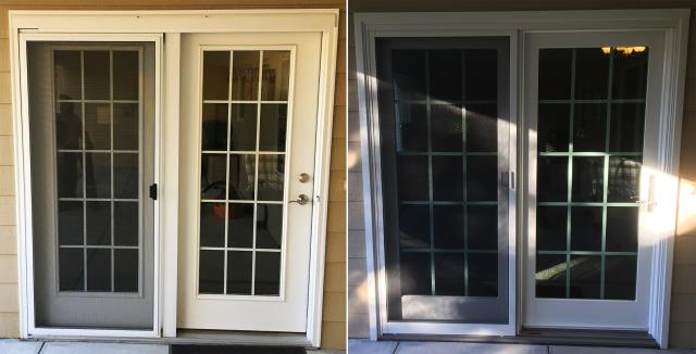 Gering, NE - This Gering, NE home upgraded their Patio Door to our Energy Efficient Fibrex French Style Patio Door!