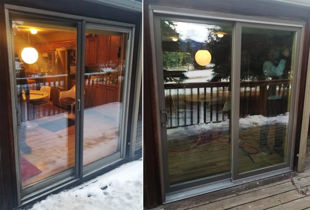 Bozeman, MT - This Bozeman, MT home upgraded their windows and patio door to our Energy Efficient Fibrex Windows and Patio Door!