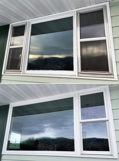 Butte, MT - This Butte, MT home upgraded their windows to our Energy Efficient Fibrex Windows!