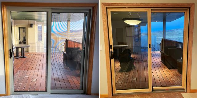Laramie, WY - This Laramie, WY home upgraded their windows and Patio Door to our Energy Efficient Fibrex Windows and Sliding Glass Patio Door!