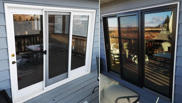 Helena, MT - This Helena, MT home upgraded their windows and patio doors to our Energy Efficient Fibrex Windows and Sliding Glass Patio Door!