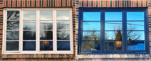 Rawlins, WY - This Rawlins, WY home upgraded their windows to our Energy Efficient Fibrex Windows!