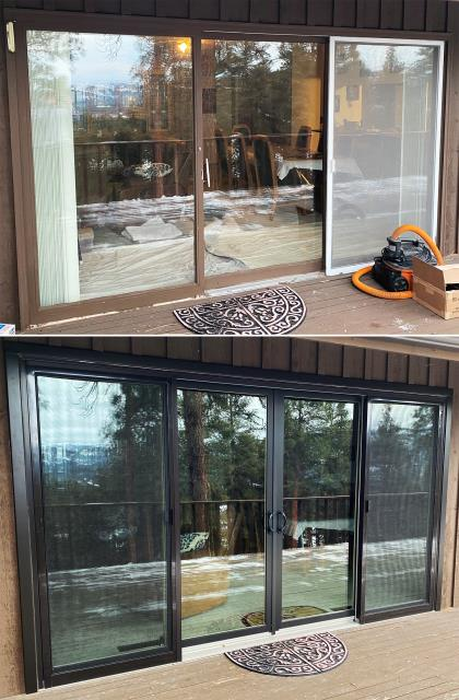 Kalispell, MT - This Kalispell, MT home upgraded their patio doors to our Energy Efficient Fibrex Sliding Glass Patio Doors!