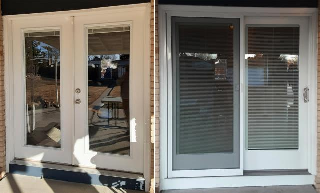 Cheyenne, WY - This Cheyenne, WY home upgraded their windows and patio door to our Energy Efficient Fibrex Windows and Sliding Glass Patio Door!