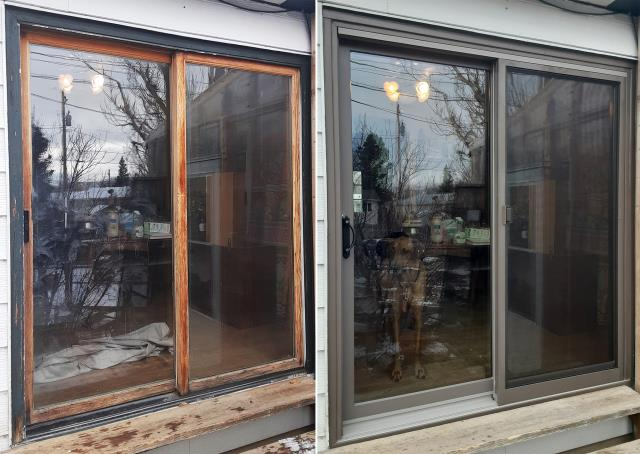 Casper, WY - This Casper, WY home upgraded their windows and patio door to our Energy Efficient Fibrex Windows and Sliding Glass Patio Door!